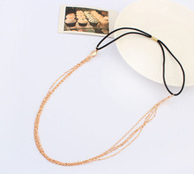 New gold Chain Head Women Boho parts chain Metal headband head hair jewelry wholesale Wedding Head