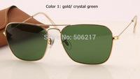 UV400 men women fashion brand name original rb sunglasses rb 3136 001 caravan arista /w green 58mm Top Quality in box