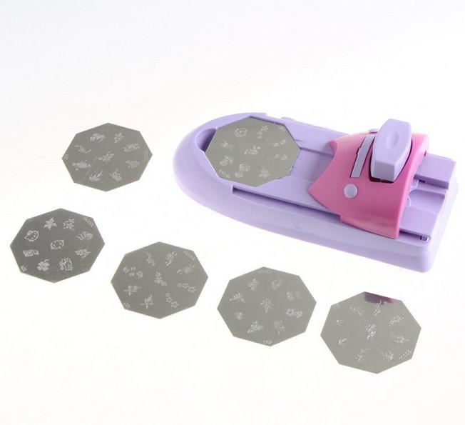 Better Material nail printer with 6 Pattern Palettes stamping nail polish machine nail art tools(China (Mainland))