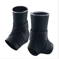 Free Shipping Adjustable Ankle Support Pad Protection Elastic Brace Guard Support Badminton/ Football /Basketball/taekwondo 2Pcs