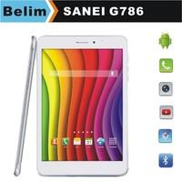 "Sanei G786 Quad Core 3G Tablet PC Dual SIM Mini PC 7.85"" HD Screen Android 4.4  Bluetooth Wifi Kids tablet Free Shipping"