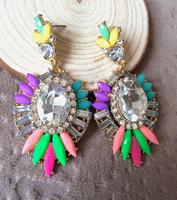 2014 Fashion Stud Earring Colorful Luxury Crystal Pendant Statement Stud Earring 2014 Brand Earrings For Women Suppliers
