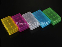 100pcs/lot crystal plastic battery storage box for 18650,CR123 etc / 18650 case / box 18650