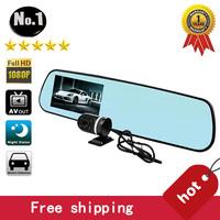 [NO LOGO]Free shipping ,wholesale x3 car dvr recorder ,4.3 inch screen, Dual Lens,Full hd 1920*1080p ,G-sensor, Super wide-angle