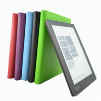 Smart Folio leather sleep cover case for Kobo Aura 6 inch (Not hd) ebook reader Free Shipping + Screen Protector + Pen