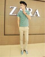 free shipping men's straight pants , skinny long zipper fly men's pants , new 2014 men's fashion dress 29