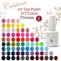 Choose 4 Colors + 1 Base + 1 Top In New 277 colors Cristina UV Gel Polish Soak Off Gel 15ml 0.5oz Nail Gel Free Shipping