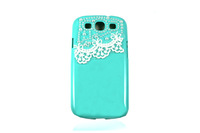 DIY Green PC hard shell pearl lace  case for Samsung Galaxy S3 i9300 Dustproof Drop Resistance With Free Shipping