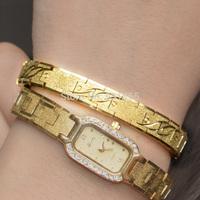 18k gold bracelet women's laser engraving quality gold chain women's fashion gold bracelet