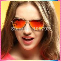 Hot 2015 New Fashion coating sunglass Frog Mirror Sunglasse Arrival Men Women Loved Unisex Sunglasses Free Ship