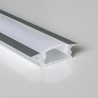 20pcs a lot, 1m per piece anodized aluminum profile for led flexible strips light