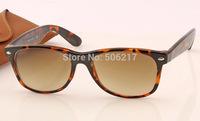 hotsale new wayfarer sunglasses brand name men's women's fashion sun glasses 2132 902/51 leopard brown degrade sunglass