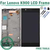 100% Original For Lenovo K900 LCD Display Screen Touch Digitizer with Frame Assembly Free Shipping