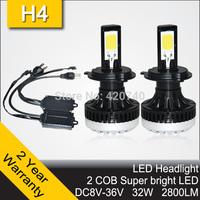2014 NEW 20W CREE XML LED Headlight Headlamp Auto Autocar Conversion Car Kit H11 2400LM 12V 24V Aluminum Alloy IP68 6000K
