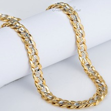 Wholesale Hammered Cut Round Curb Cuban Womens Mens Silver Yellow Gold Filled GF Chain Necklace Personalized