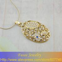 IGZ01478 Classic 18K Gold Plated Turquoise/pearl pendant pendant 2pcs/lot