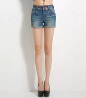 Ferzige Brand Summer Flower Embroidered Denim Shorts Thin Elastic Cuffs With Large Size 26 - 32 Korea 565 - Free Shipping