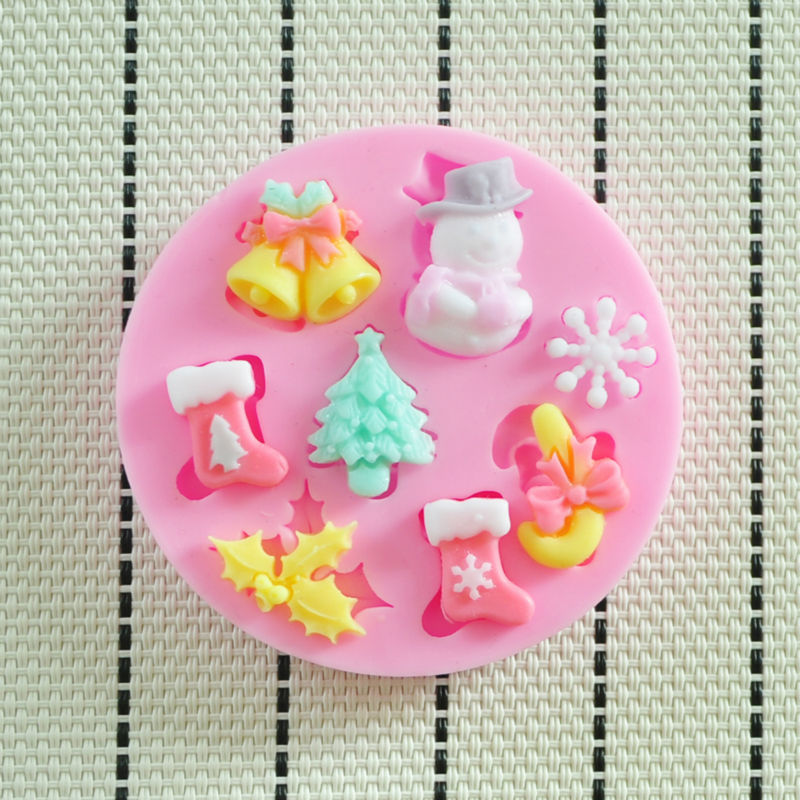 2014 NEW beautiful Christmas silicone mold,Fondant Cake Decorating Tools,forma de silicone,Silicone Cake Mold(China (Mainland))