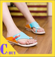 Free shipping 2014 women sandals shoes comfortable all-match massage slippers female rhinestone flip flops fancy style