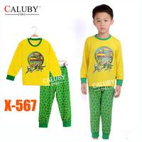 Boys Nanjia Turtles Pajamas Sets Kids Autumn -Summer Clothing Set New 2014 Wholesale Children Cartoon LongSleeve Pijamas X-567