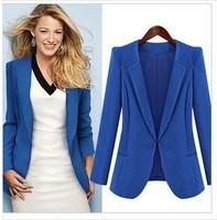 New  women's 2015 slim double collar long-sleeve blazer  outwear plus size S-XXL free shipping
