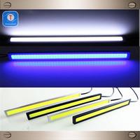 The new ultra-thin car LED daytime running lights super bright waterproof COB universal power conversion daytime running lights