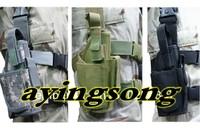 Tactical Drop Leg Pistol Holster Pouch Bag CP MULTICAM