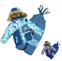 Retail 1-5Y winter ski baby&kids clothing set New 2014 good quality windproof fashion warm 3pcs suit(waterproof coat+vest+pants)