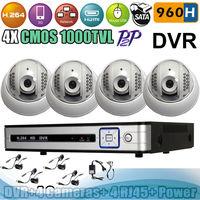 Free Shipping Home 4CH CCTV kit 960H DVR Security camera System Indoor 1000 TVL With IR-CUT 22pcs LED IR Camera