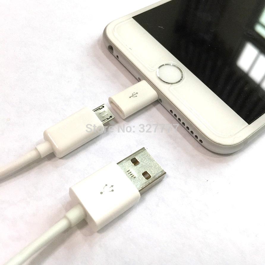 High quality micro v8 to 8pin Adapter Micro USB converter adapter Micro to 8pin adapter For iphone5S/5C ipad ipod,Free Shipping