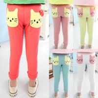 2014 spring smd cat girls clothing baby child legging long trousers kz-3566