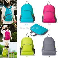 Free Shipping 1piece The portable Zipper Soild Nylon Daily Traveling Backpacks Shoulder bags Folding bag