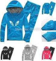 girls brand new tracksuit twenset shampooers hoodies jacket + pants jogging sports set clothes women's outerwear hooded coat