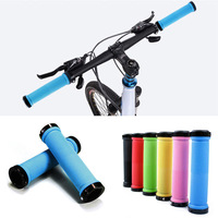 New 7 Colors 1 Pair Mountain Bike Cycling Bicycle Lock On Handle Grips Handlebar Ends Rubber Free Shipping
