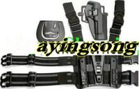 M92 tactical puttee thigh belt drop Leg holster pouch Black
