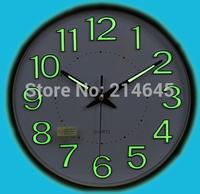 M27 luminova wall clock with accurate quartz quiet movement
