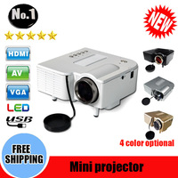 Wholesale Free shipping GM40 mini projector   Home Theater Projector For Video Games TV Movie Support HDMI VGA AV Portable