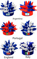2014 World Cup ,France, Argentina and Spain Brazil Portugal, Germany and Brazil Soccer Bar hedgehog hat