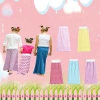100% Pure Cotton Children Girls Waves Skirt Kids Girl Maxi Skirt For Spring Summer CHERVON Pattern Long Skirt