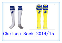 Chelsea away yellow soccer football sock 14-15,Home White SOCK.HAZARD TORRES WILLIAN OSCAR DROGBA LAMPARD  FABREGAS DIEGO COSTA