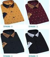 new 2014 men fashion summer men shirt short sleeve 100% cotton casual shirts Slim Fit man plus size 4XL Free Shipping