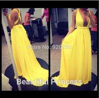Free Shipping New Fashion Vestido de festa High Quality Sexy Backless Chiffon Long Formal Evening Dress 2014 Vestido de renda