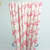 25pcs(1bag)Party Supplies and wedding supplies princess drinking paper Straws free shipping princess paper straws