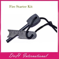 2pcs/lot Magnesium Stone Flint Fire Starter Kit Outdoor Survival outdoor tools  Free drop shipping