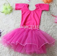 The new summer 2014 children practise dancing dress veil with short sleeves dance skirt of summer clothing apparel ballet skirt