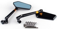 Universal motorcycle CNC Rear Side Mirrors Diamond ,Smooth surface,High quality  five color