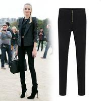 High-waisted! Women's Plus size XXL Black\White casual pencil Pants ladies' Zipper Leggings slim Capris 2014 New Arrival