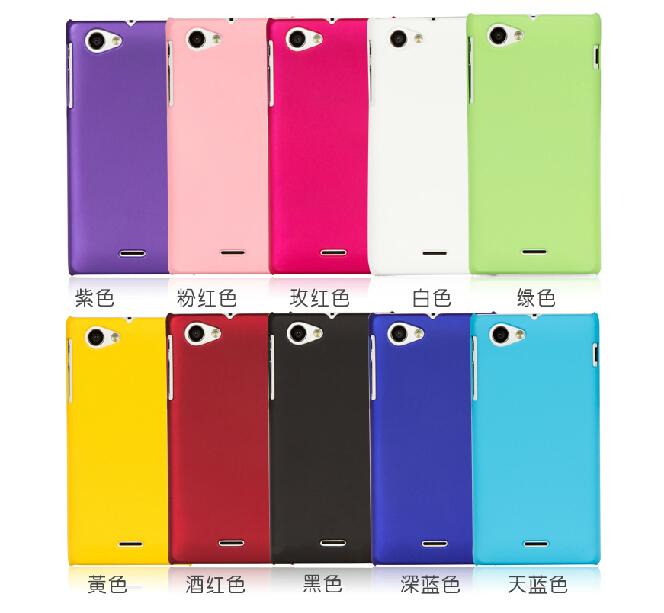 Cover voor sony xperia j, kleurrijke rubberen mat hard cover case voor ...