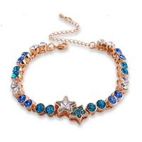 Popular Women's Bracelet Inlaid Crystal Bracelet for Women Crystal Jewelry Female Bangles ML-456