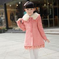 Long-Sleeve Girls Coat NEW Autumn& Winter Child Princess Dress Children Outerwear Clothing